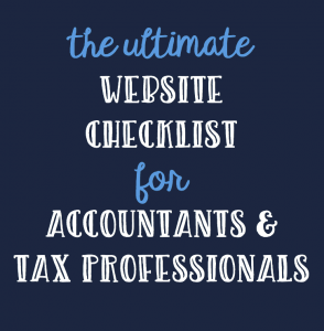 website checklist for accountants